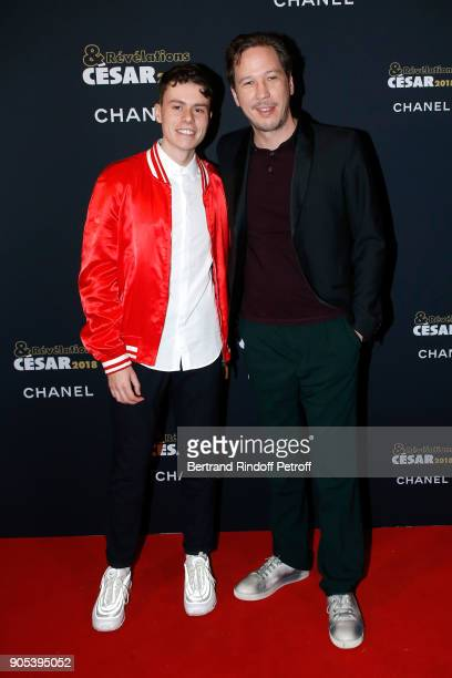 Revelation for 'L'Atelier' Matthieu Lucci and his sponsor Reda Kateb attend the 'Cesar Revelations 2018' Party at Le Petit Palais on January 15 2018...