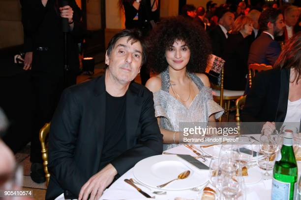 Revelation for Le Brio Camelia Jordana and her director in the movie Yvan Attal attend the 'Cesar Revelations 2018' Party at Le Petit Palais on...