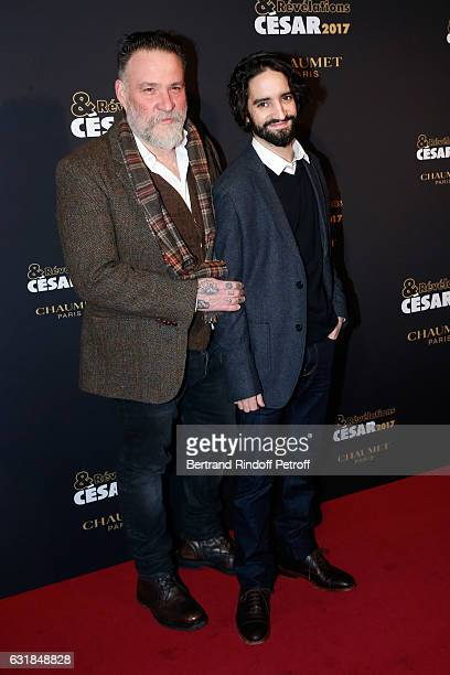 Revelation for 'Les Premier les dernier' David Murgia and his Director Bouli Lanners attend the 'Cesar Revelations 2017' Photocall and Cocktail at...