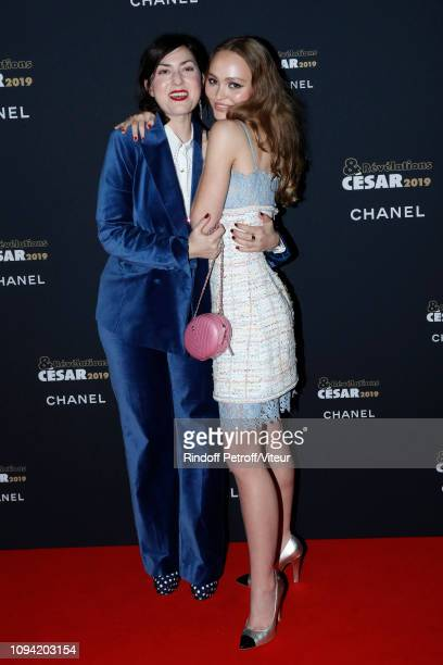 Revelation for L'Homme fidele LilyRose Depp and his sponsor Rebecca Zlotowski attend the 'Cesar Revelations 2019' at Le Petit Palais on January 14...