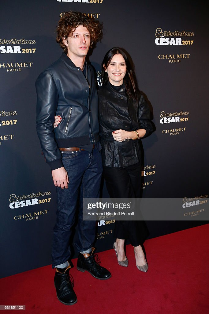 Revelation for 'L'Origine de la violence', Cesar Chouraqui and his sponsor Geraldine Pailhas attend the 'Cesar - Revelations 2017' Photocall and Cocktail at Chaumet on January 16, 2017 in Paris, France.