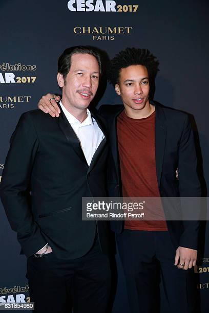 Revelation for Quand on a 17 ans Corentin Fila and his sponsor Reda Kateb attend the Cesar Revelations 2017 Photocall and Cocktail at Chaumet on...