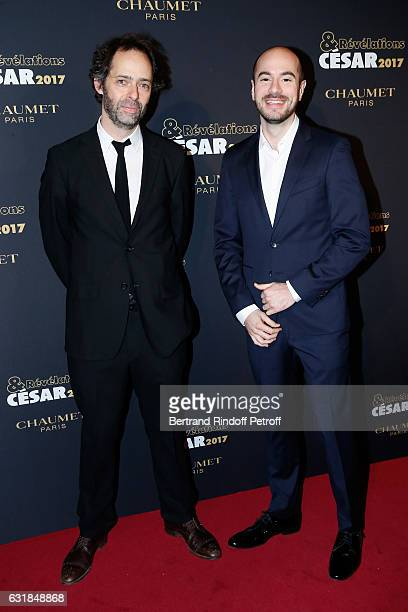Revelation for 'Rosalie Blum' Kyan Khojandi and his director Julien Rapeneau attend the 'Cesar Revelations 2017' Photocall and Cocktail at Chaumet on...