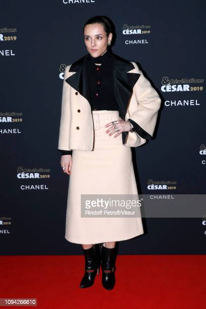 Revelation for 'Un amour impossible' Jehnny Beth dressed in Gucci attends the 'Cesar Revelations 2019' at Le Petit Palais on January 14 2019 in Paris...