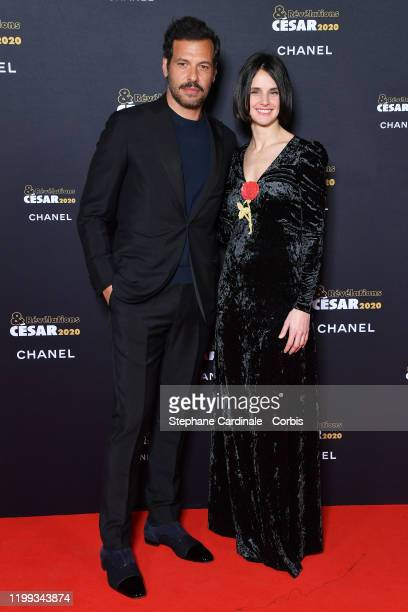 Revelation for Un beau voyou Jennifer Decker and director of the movie Lucas Bernard attend the Cesar Revelations 2020 Photocall at Petit Palais on...