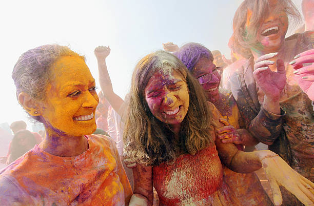 Indian Holi Festival Celebrated On Boat Cruise Around Manhattan Wall Art