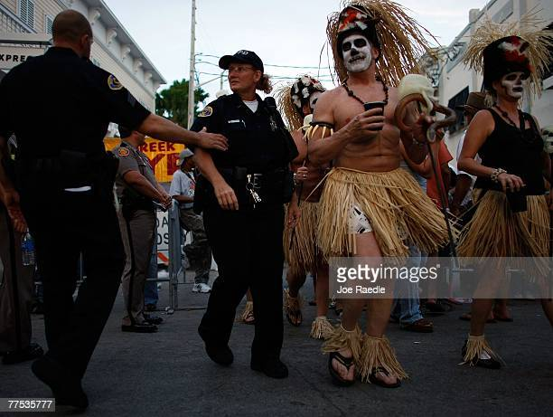 Revelers Participate In The Fantasy Fest Masquerade March October   In Key West Florida The