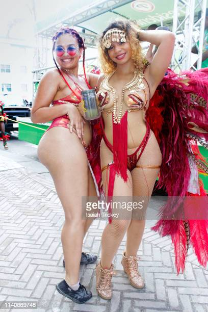 Revelers participate in the Labor Day Parade during St. Maarten Carnival on May 1, 2019 in Philipsburg, St Maarten.