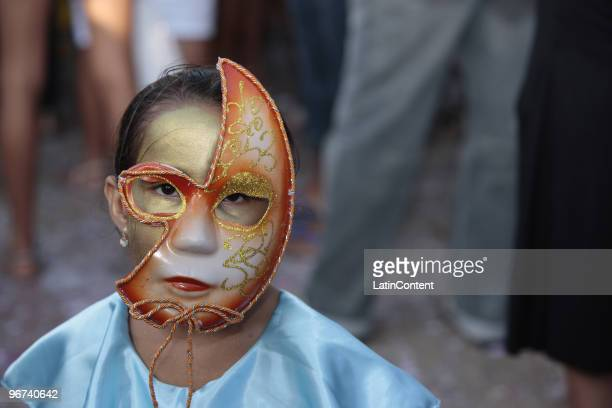Revelers take over the streets of Maragogipe playing and wearing costumes during the Carnival on February 15 2010 in Salvador Brazil Maragogipe is...