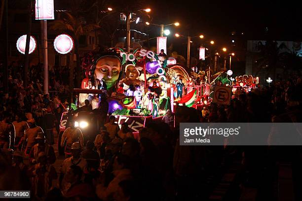 Revelers take over the streets of Veracruz dressed in costumes to play and participate of the traditional Veracruz' Carnival 2010 at Malecon Street...