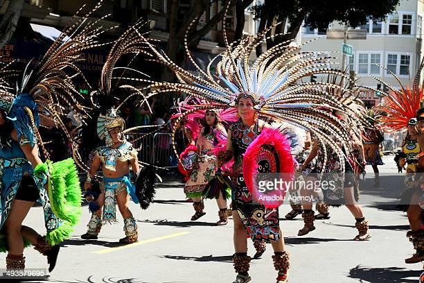 Revelers take part in the 36th annual Carnaval San Francisco Parade on May 25 2014 in the Mission District of San Francisco California Carnaval San...