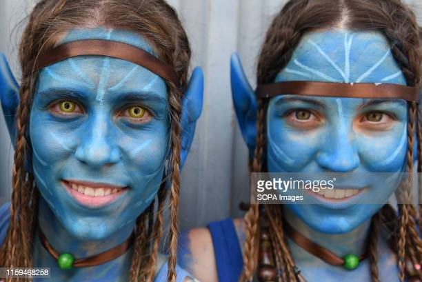 Revellers are seen posing for a picture during the festival Hundreds of revellers celebrate the XV La Juventud festival in Almazán north of Spain...