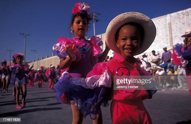 Revellers at Barranquilla Carnival