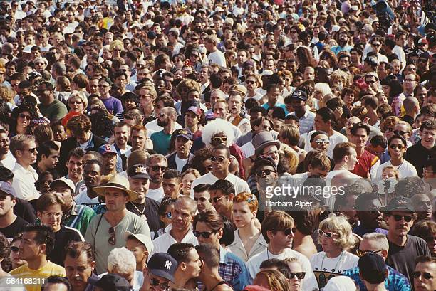 Revellers enjoy themselves at the Wigstock festival, New York City, USA, August 1994.