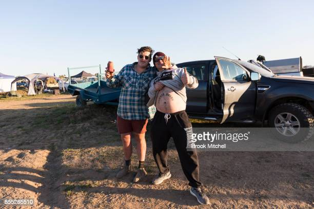 Revellers get a start on the festivities at dawn on day one of the 2017 Deni Ute Muster on September 29 2017 in Deniliquin Australia The annual...