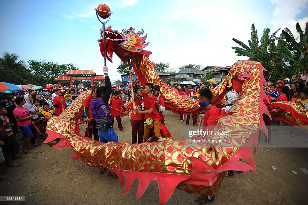 Chinese Dragon Burnt To Mark The End Of Chinese New Year Celebration : News Photo