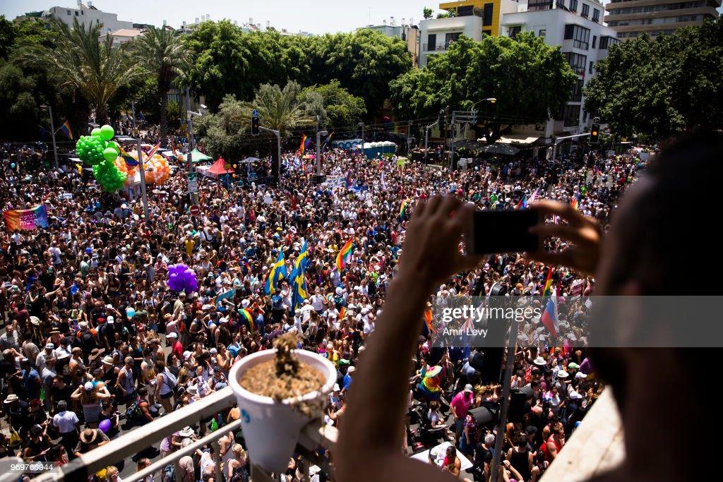 Israel's Gay Community Holds Pride Parade In Tel Aviv : News Photo