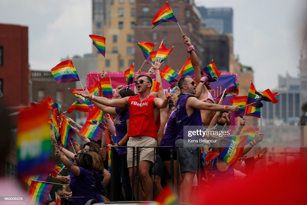 New Yorkers Celebrate Gay Pride With Annual Parade : News Photo