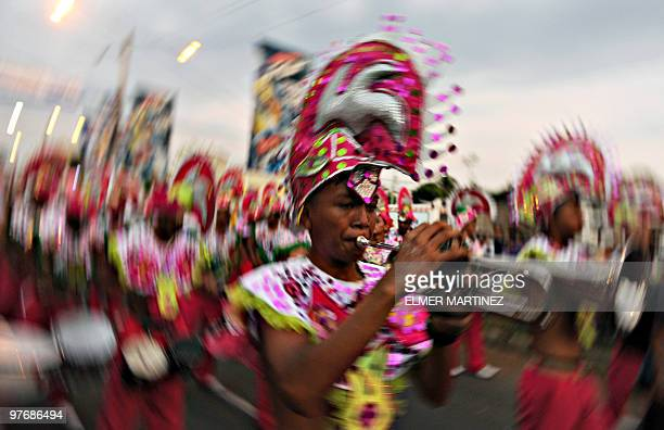 Revellers take part in the Carnival Joy for Life ''Alegria por la Vida 2010'' in Managua on March 13 2010 AFP PHOTO/ Elmer MARTINEZ