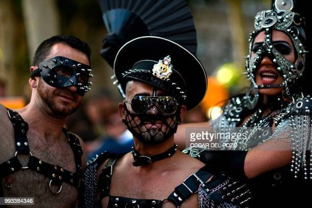 Revellers take part in the Gay Pride 2018 parade in Madrid on July 7 one of the world's biggest