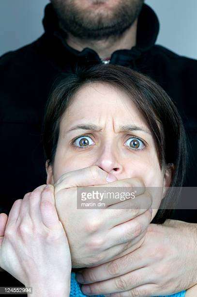revenge - women being strangled stock photos and pictures