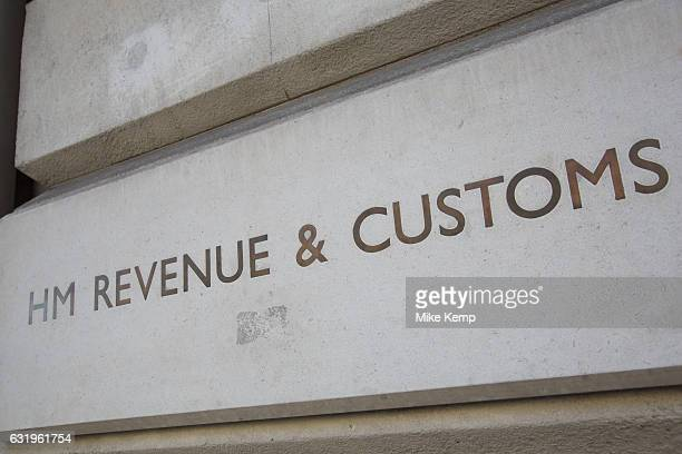 HM Revenue and Customs on Whitehall in London England United Kingdom HM Revenue Customs also known as HMRC is in charge of all elelments of tax and...