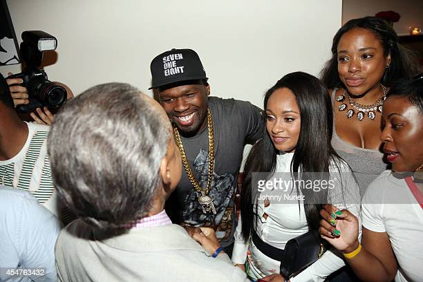 Reverend Al Sharpton 50 Cent and Tahiry Jose attend Argyleculture By Russell Simmons during MercedesBenz Fashion Week Spring 2015 at Helen Mills...