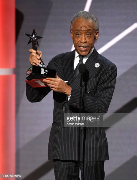 Reverend Al Sharpton accepts the Dr Bobby Jones Best Gospel/Inspirational Award sponsored by State Farm onstage at the 2019 BET Awards on June 23...