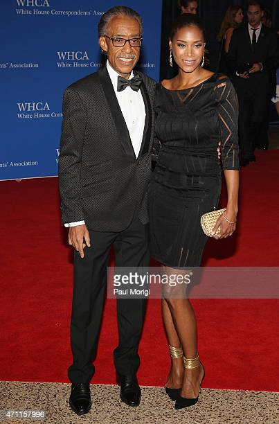 Reverend Al Sharpton and Aisha Mcshaw attend the 101st Annual White House Correspondents' Association Dinner at the Washington Hilton on April 25...