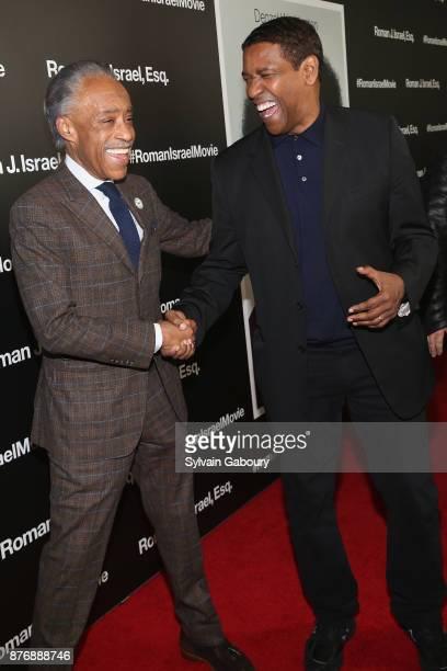 Reverend Al Sharpton and Denzel Washington attend Roman J Israel Esquire New York Premiere on November 20 2017 in New York City