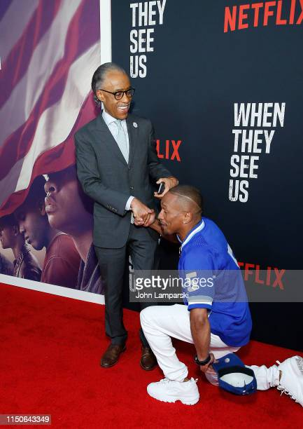 Reverend Al Sharpton and Korey Wise attend When They See Us World Premiere at The Apollo Theater on May 20 2019 in New York City
