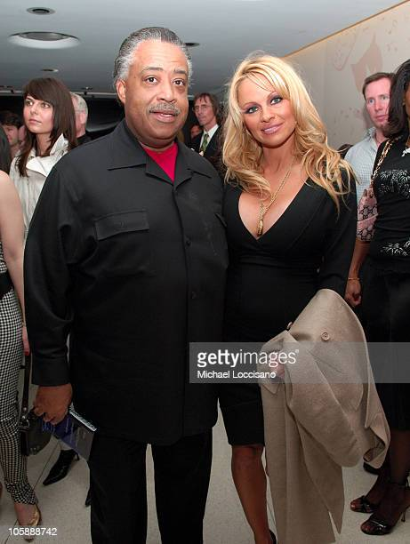 Reverend Al Sharpton and Pamela Anderson during Olympus Fashion Week Fall 2006 Pamela Anderson Hosts PeTA's Fashion Week Bash at Stella McCartney...