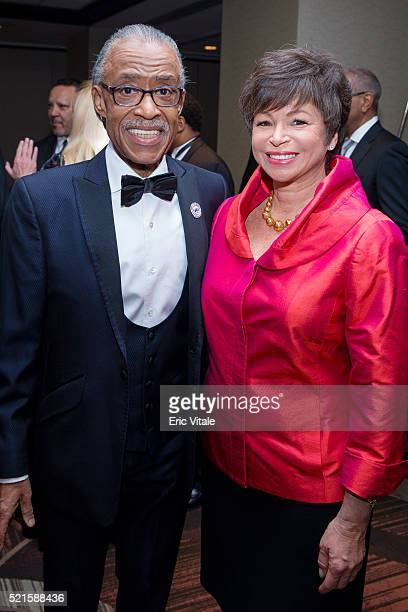 Reverend Al Sharpton and Valerie Jarrett Senior Advisor to the President of the United States attend the 2016 NAN 'Keepers Of The Dream' Dinner and...