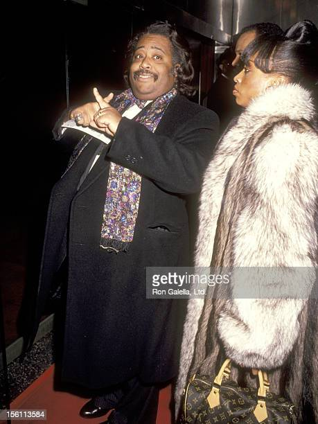 Reverend Al Sharpton and wife Kathy Jordan attend the 'Malcolm X' New York City Premiere on November 16 1992 at Ziegfeld Theater in New York City New...