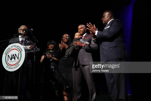 Reverend Al Sharpton, Ashley Sharpton, Dominique Sharpton-Bright, Dr. Marcus Bright, and Reverend Dr. W. Franklyn Richardson attend the 2019 Triumph...