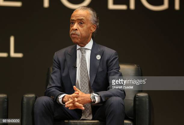 Reverend Al Sharpton attends Reform Bringing Injustice To Light at Irvine Auditorium on March 13 2018 in Philadelphia Pennsylvania