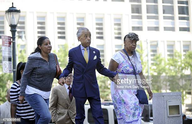 Reverend Al Sharpton paid a visit to the US Attorney's office today with the family of the late Eric Garner as wife Esaw Garner and mother Gwen Carr...