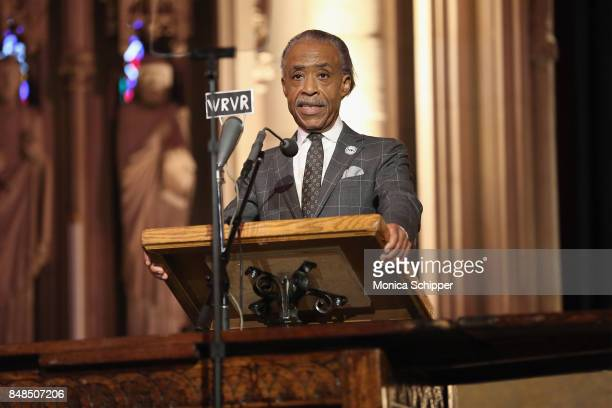 Reverend Al Sharpton speaks during Global Citizen Breaking the Silence Beyond the Dream at Riverside Church on September 17 2017 in New York City