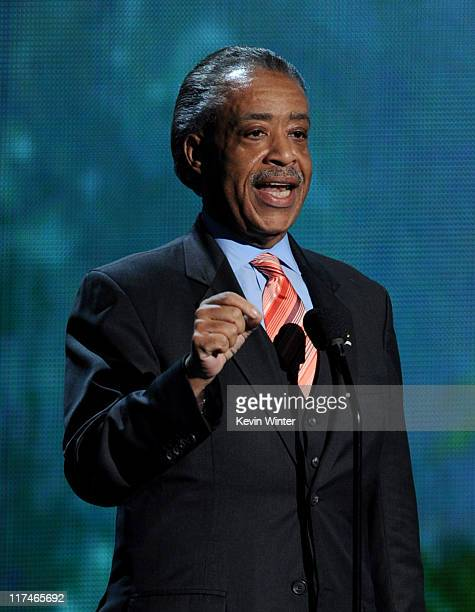 Reverend Al Sharpton speaks onstage during the BET Awards '11 held at the Shrine Auditorium on June 26 2011 in Los Angeles California