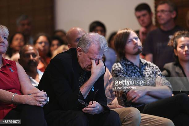 Reverend Bill Crews has an emotional moment during the Ampuni Vigils at C3 Church Toongabbie on February 18 2015 in Sydney Australia Myuran Sukumaran...