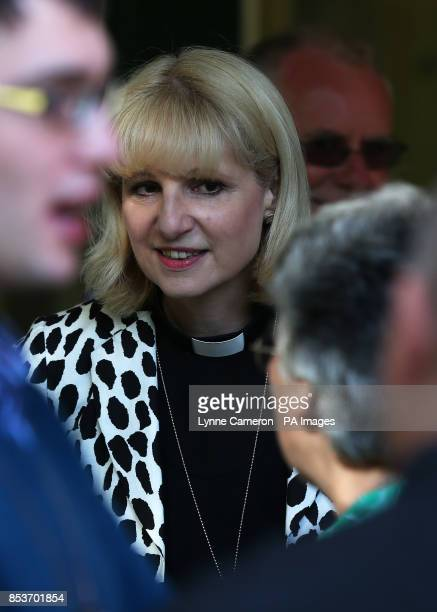 Reverend Canon Rosie Harper Chaplain to the Bishop of Buckingham arrives for the General Synod of Church of England meeting at The University of York