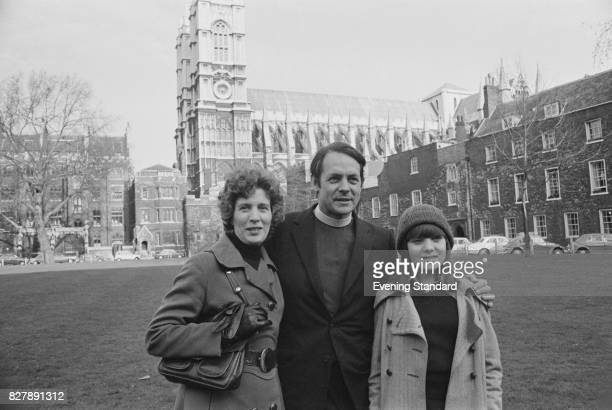 Reverend David Sheppard with his wife Grace and daughter Jenny, at Dean's Yard, Westminster Abbey Precincts, London, 13th January 1975. .