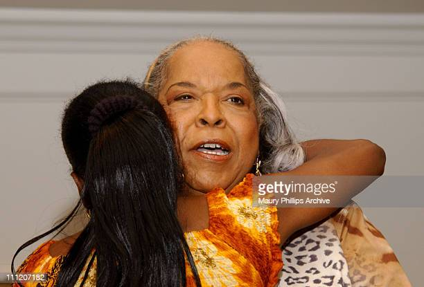 Reverend Della Reese during Rev Della Reese Conducts Her First Post Angel Sunday Service at Wyndham Bel Age Hotel in West Hollywood California United...