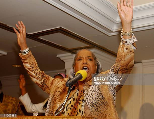 Reverend Della Reese during Rev Della Reese Conducts Her First Post 'Angel' Sunday Service at Wyndham Bel Age Hotel in West Hollywood California...
