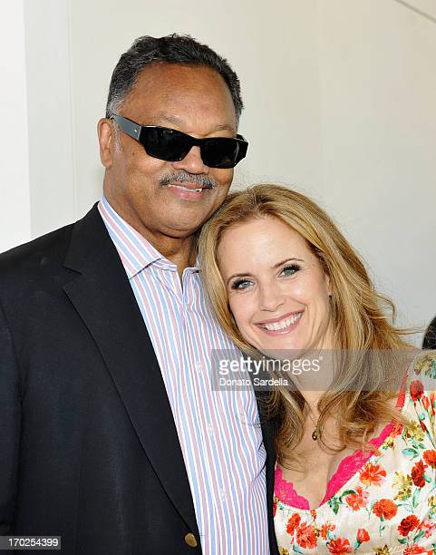 Reverend Jesse Jackson and actress Kelly Preston attend the 1st Annual Children Mending Hearts Style Sunday on June 9, 2013 in Beverly Hills,...