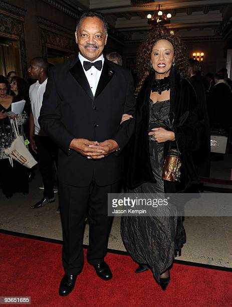 Reverend Jesse Jackson and Jacqueline Lavinia Brown attend the Alvin Ailey Opening Night Gala Performance at the New York City Center on December 2...