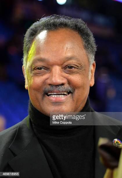Reverend Jesse Jackson attends the State Farm AllStar Saturday Night during the NBA AllStar Weekend 2014 at The Smoothie King Center on February 15...