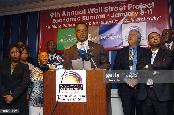 Reverend Jesse Jackson during Reverend Jesse Jackson's 9th Annual Wall Street Project Economic Summit at Sheraton New York Hotel and Towers in New...