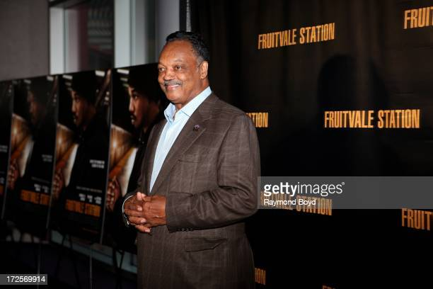 Reverend Jesse L Jackson poses for photos during the red carpet arrivals for the 'Fruitvale Station' movie screening at the Showplace ICON Theatres...