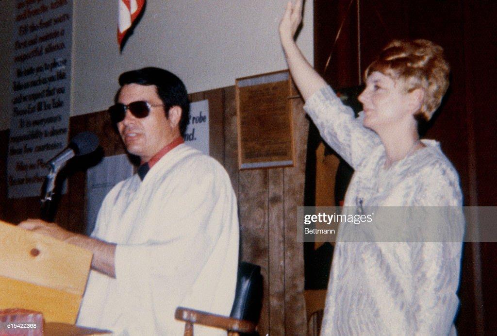 Jim Jones and Marceline Jones : News Photo